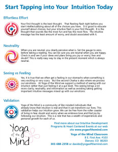 4 steps Intuition
